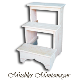 Venta de escaleras de madera muebles auxiliares for Escaleras 3 peldanos amazon